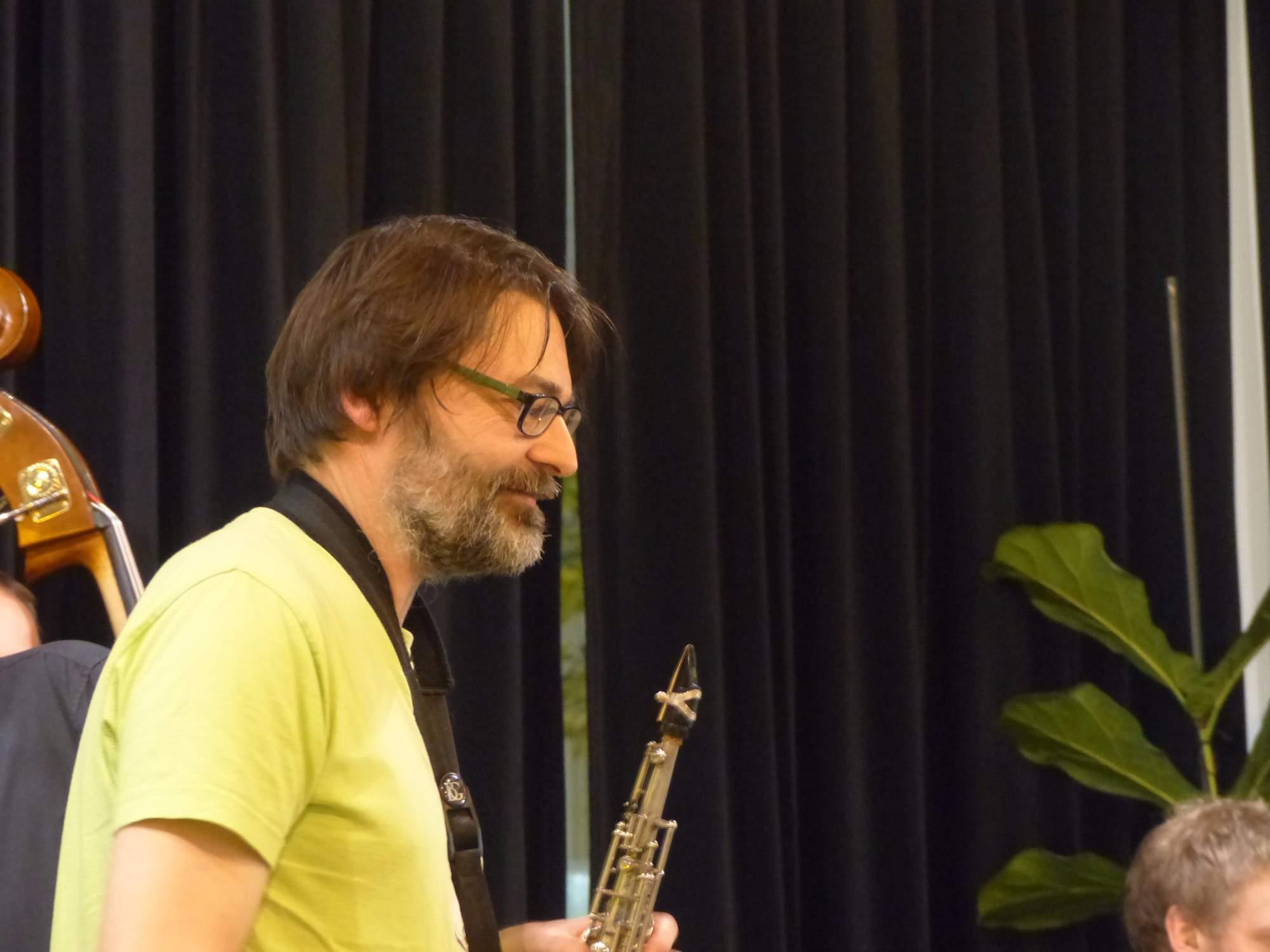 Saxofonista Radim Hanousek.