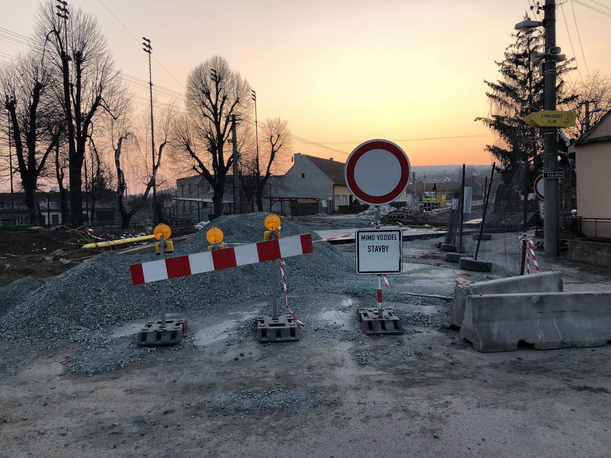 Aktuální stav mostu v Hostěrádkách-Rešově