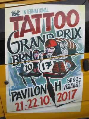 První ročník festivalu Tattoo Grand Prix se konal  21. října na brněnském výstavišti. Z 500 tatérů z celého světa vybrali organizátoři 150 nejlepších. Zájem návštěvníků jbyl velký, desítky lidí odcházejí z akce s památkou na celý život.