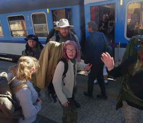 Rychloloučení na přestupu v Kolíně...